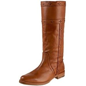 Frye 7 Maxine Stitch Pull On Boots Cognac Brown
